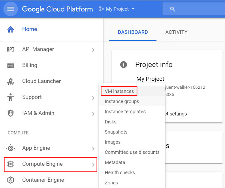 VM in Google Cloud