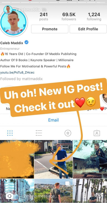 caleb maddix instagram