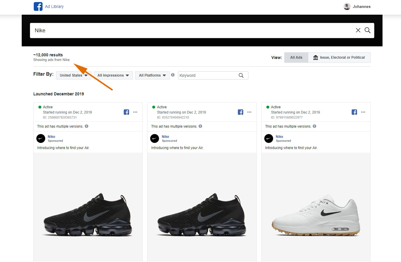 Nike Ads Library